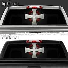 Amazon Com Art Knight Templar Logo Perforated Vinyl Decal Rear Window Car N766 Frst 22x56 Baby