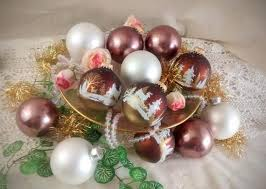 vintage ornaments box of