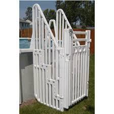 Confer Plastics In Pool 5 Step Ladder W Barrier Gate Sig Inyopools Com