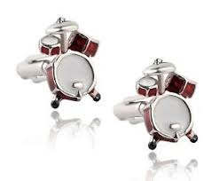 drum kit cufflinks ian drummer