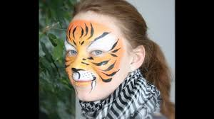 tiger face painting tutorial easy