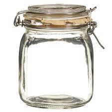 medium glass clip lock jar kitchen