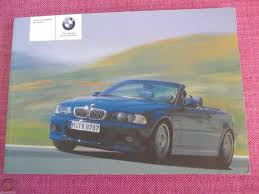 bmw e46 m3 convertible owners manual
