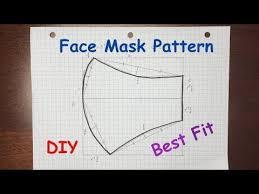 diy face mask pattern best fit face