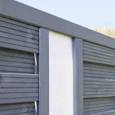 Rowlinson Palermo Angled Opaque Infill Fence Panel 3x6 Garden Street
