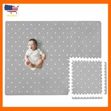 Baby Play Mat With Fence Extra Large 4ft X 6ft Non Toxic Foam Puzzle Floor