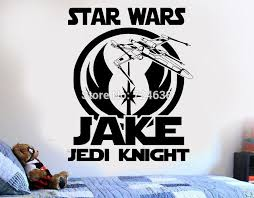 Large Size Star Wars Personalized Jedi Diy Wall Art Sticker Decal Mural Wall Dero Bedroom Playroom Wall Art Stickers Mural Wall Wall Art Decals Aliexpress