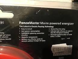 Gallagher Electric Fencing Fence Master Energiser G333 114 44 Picclick Uk