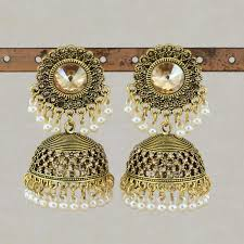 Boho Ethnic Drop Earrings for Women Antique Gold Silver Color Pearl Bell  Gypsy Hanging Pendientes Indian Women Earring Jewelry| | - AliExpress
