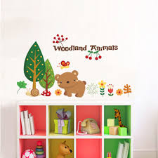 Waliicorners Forest Animals Wall Stickers For Children Room Kitchen Decoration Home Decor Wall Decals Kids Room Party Decoration Mural Waliicorner S Store