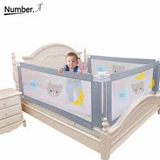 Children S Bed Barrier Fence Safety Guardrail Security Foldable Baby Home Playpen On Bed Fencing Gate Crib Adjustable Kids Rails Baby Playpens Aliexpress
