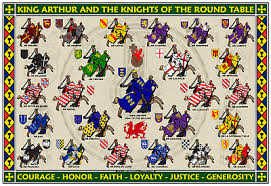 knights of the round table 13x19 poster