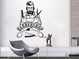 Barber Shop Sign Wall Decal Barbershop Logo Hipster Wall Decals Beauty Salon Vinyl Stickers In 2020 Barber Shop Decor Barber Shop Barber Shop Sign