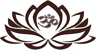 Amazon Com Omega Namaste Icon In Lotus Flower Vinyl Decal Sticker Quote Small Brown Home Kitchen