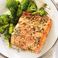Herb-Roasted Salmon Fillets Recipe ...