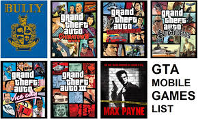 rockstar games all mobile list the