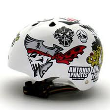 Decal Stickers For Helmet Motorcycle Biker Snowboard Hard Hat Antonio Pirate 01 Ebay