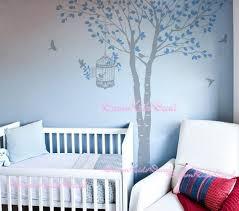 Tree Wall Decal Baby Girl Nature Tree Wall Mural Nursery Wall Etsy