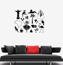 Vinyl Decal Latin America Symbol Brazil Carnival Wall Stickers Mural U Wallstickers4you
