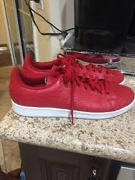 mens adidas stan smith red leather croc