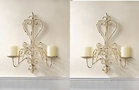 distressed iron candelabra wall sconces