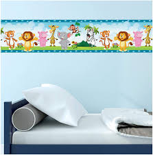 Malkan Signs Zoo Animals Wall Border Decor Decal For Kids Bedrooms Playrooms Easy To Apply Peel And Stick 16 4 Feet Long 5 1 Inches Wide Amazon Com