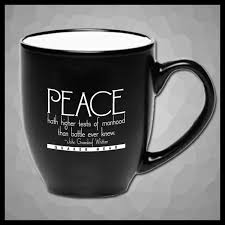 ceramic mug peace quaker gear