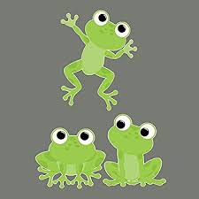 Amazon Com Cute Frogs Removable Repositionable Fabric Wall Decals 3 Piece Set Home Kitchen