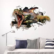 Dinosaur Breaking Out Of The Wall To Escape 3d Wall Decal Stickers Decor Diy Home Decroation Cartoon Wall Art Murals Stickers Wall Decals Canada Wall Decals Cheap From Magicforwall 5 28 Dhgate Com