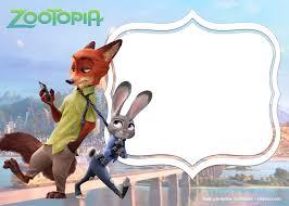Free Printable Zootopia Invitation Templates Com Imagens