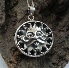 sterling silver 925 green man pendant