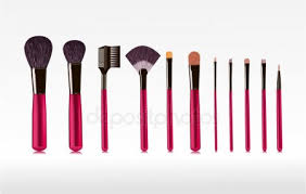 ᐈ of makeup brushes stock drawings