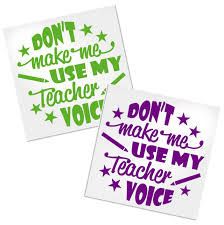 Funny Teacher Decal For Cups Tumblers Or Car Decals By Adavis