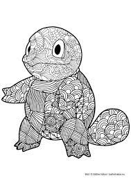 Malarbild For Vuxna Farglagg Pokemon Squirtle Mandala