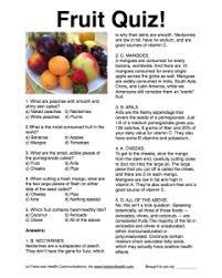 fruit trivia nutritioneducation