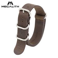 brand genuine leather watches bands