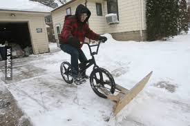 homemade snowplow bike 9