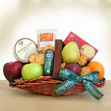 fruits abound sympathy gift baskets