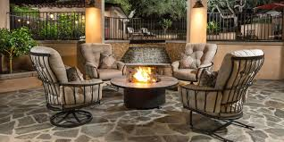 georgetown fireplace and patio