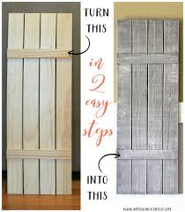 diy weathered wood shutters farmhouse
