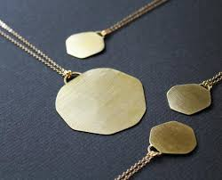 gold disc necklace round gold pendant