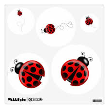 Ladybug Wall Decals Stickers Zazzle