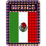 Mexico Vinyl Waterproof Flag Decals Reflective Flag Stickers Mexican Oval Decals