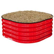 900 x 900 x 400mm red raised garden bed