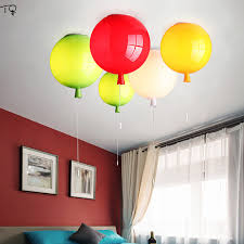 Modern Colouful Balloons Wedding Acrylic Led Ceiling Lamp Pull Switch Kids Room Light Boy Room Bedroom Luminaire Plafonnier Ceiling Lights Aliexpress