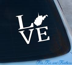 Love West Virginia Decal State Decal Home Decal Wv Etsy