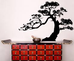 Vinyl Wall Decal Sticker Reaching Bonsai Ac219 Stickerbrand