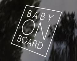 Baby On Board Etsy