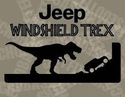 Jeep Jurassic Park T Rex Windshield Decal Sticker Kit Wrangler Etsy