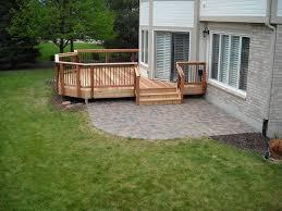 deck patio combinations outdoor designs